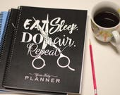 2018 Hairstylist Day Planner | Black with Quote | Weekly | 13 months Jan '18 - Jan '19 | Appointment Book | Scheduling | Salon | Dated