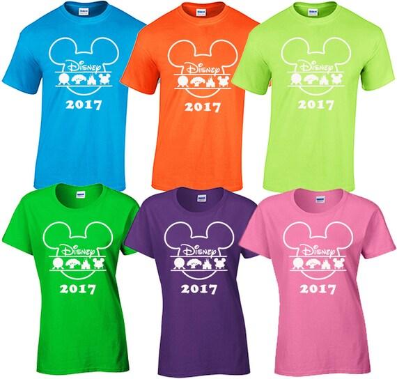 Walt disney world family vacation 2017 matching tee shirts t for Orlando custom t shirts