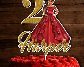 Elena of Avalor Cake topper, Elena of Avalor Centerpieces, Elena of Avalor Cake Decorations , Personalized