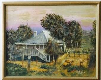 Original Painting Australian homestead