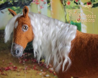 Custom portrait figure of your own horse/wishing horse-needle felted wool-pre-order-work on order