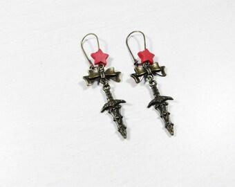 Boucles d'oreilles Pin'up Rockabilly - Dague
