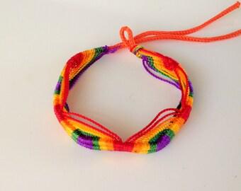 LGBT Gay Bracelet Rainbow Woven Bracelet Pride Jewelry Lesbian