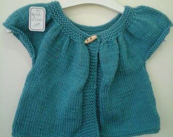 Green short sleeve 12 months Cardigan