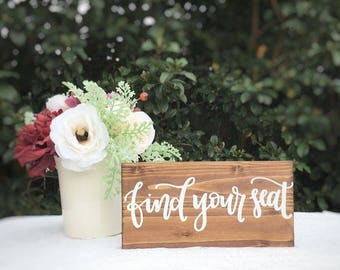 Find your seat sign rustic wedding signs rustic wedding decor wedding seating sign event seating sign rustic wedding decor decorations