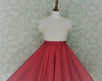 Red spotty circle skirt