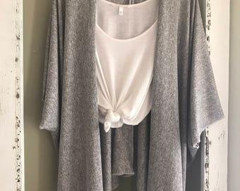 Cozy grey kimono