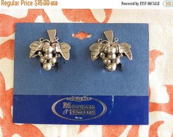 ON SALE stunning vintage new old stock southwestern sterling silver grape earrings