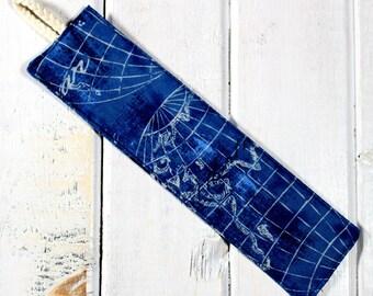 Nautical Map - Fabric Bookmark