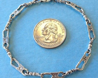 Fishers Of Men Sterling Silver 925 Bracelet Acts Retreat Religious 9 inches