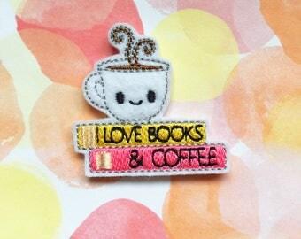 Felties, Coffee And Books, Library Reading, Kawaii Mug, Book Lover
