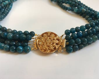 Five-Stranded Apatite Necklace (Bead Collection)