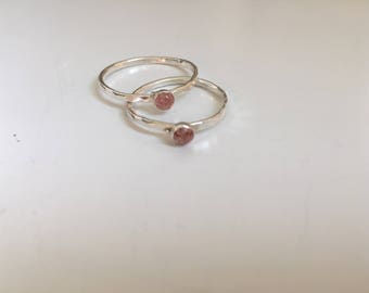 Strawberry Quartz Ring (Summer Collection)