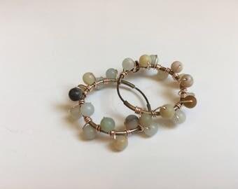 Amazonite Bubble Earrings (Bead Collection)
