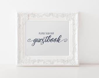 No. PS4 | Please Sign | Guestbook | Printable | DIY | Wedding, Party or Reception | PDF | JPG
