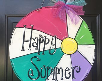 Summer Beachball Door Hanger