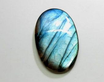 48Cts 38X24X6mm Natural Labradorite Cabochon Loose Gemstones Oval Top AAA Blue Fire Labradorite Gemstones Labradorite Jewelry Making
