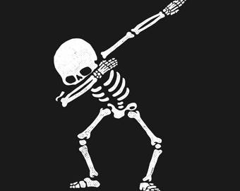 Dabbing Skeleton SVG