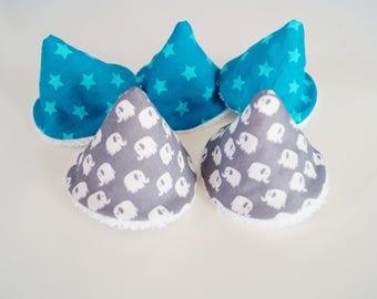 teepee pee (5 cones) gray elephant: original gift