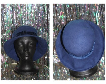 Blue 100% Wool Bucket Hat *Excellent Condition