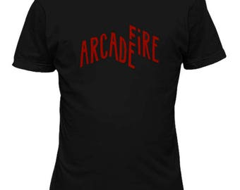 Arcade Fire  indie rock band T shirt Music 79