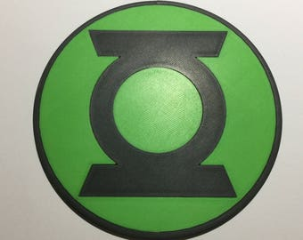 3D Printed Green Lantern Corps Logo Coaster