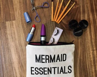 Mermaid Essentials Makeup Bag, Cosmetic Bag, Toiletry Bag