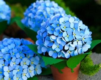 Paper Hydrangea, hydrangea, hydrangea flowers, hypoallergenic flowers, wedding flowers, Misslivibugs , allergy free, paper flowers