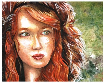 Original Watercolour Painting - Hunter - Rhianna Catt