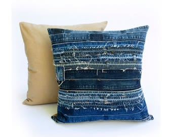 Salvaged Denim Pillow