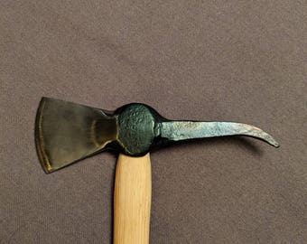 Hand Forged Tomahawk - Ball Pein Hammer Up-cycle