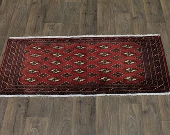 Gorgeous Large Tribal Handmade Turkoman Persian Rug Oriental Area Carpet 2X4ʹ5