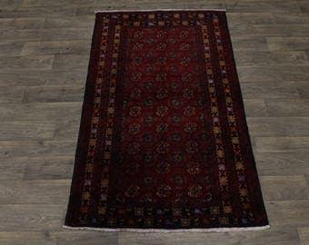 4X7 Nice Foyer Handmade Tribal Balouch Persian Rug Oriental Area Carpet 3'8X6'7