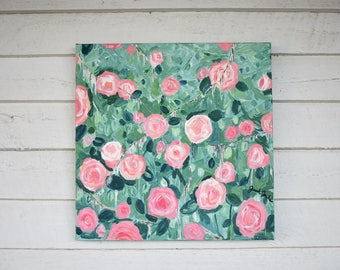 """Floral painting - """"Grow"""" - flower painting"""