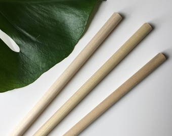 Natural wood rod, wood dowel