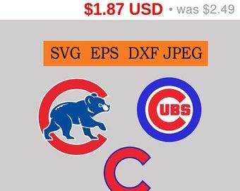 Sale 25%  -  Chicago Cubs logo in SVG / Eps / Dxf / Jpg files INSTANT DOWNLOAD!