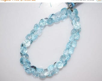 """50% OFF Sky Blue Topaz Faceted Onion Shape Beads-Sky Blue Topaz Onion Shape Briolette, 5x7 - 6x7 mm, 7"""" , BL770"""