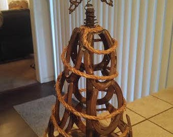 rustic 3D Horseshoe Christmas tree