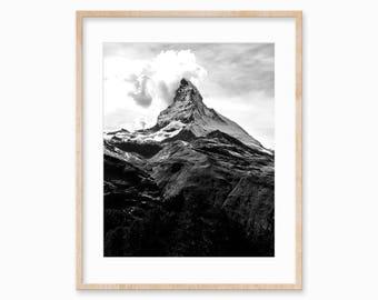 Wanderlust, Mountain Wall Art, Mountains, Art Print, Affiche Scandinave, Living Room Decor, Minimalist Poster, Scandinavian Print, Digital