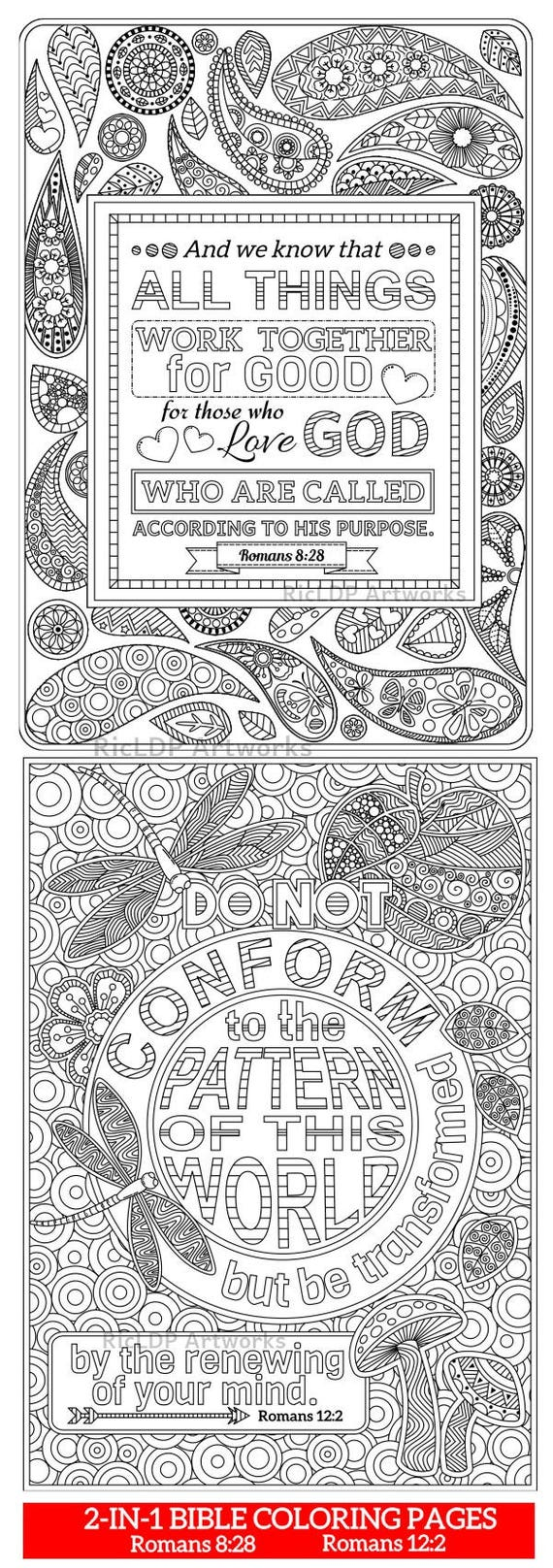 93 2 Printable Bible Coloring Pages Romans 8 28 And 12