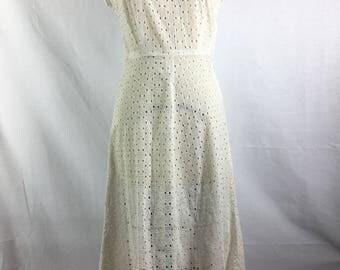 VTG 40s new look eyelet day dress
