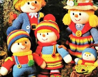Jean Greenhowe -Scarecrow Family Toy Knitting Pattern pdf