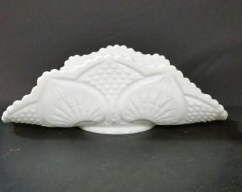 Vintage milk glass banana bowl
