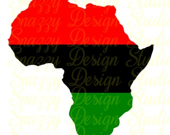 Africa Map ~ African Map ~ Cutting File ~ Black History svg ~ Black History ~ SVG,DXF,EPS ~ Cricut ~ Silhouette