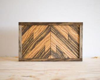 """Wood Wall Hanging - 15"""" x 9"""" x 1.5"""" - Dark Tones"""