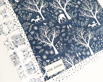 Blue Moon Modern Baby Quilt-Handmade Crib Quilt-Baby Quilt Blanket, Gender Neutral Baby Blanket, Baby Quilt for Sale
