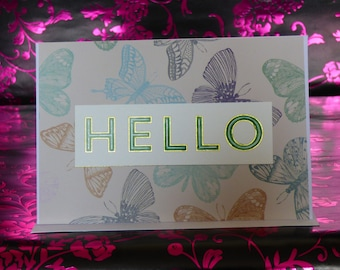 Watercolour design greeting/note cards **blank inside**
