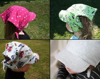 Casquette bandana bébé/enfant pour implant cochléaire - Baby/Child cap for cochlear implant