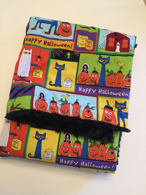 Pete the Cat Halloween Blanket