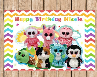 Beanie Boo's Birthday Vinyl Banner
